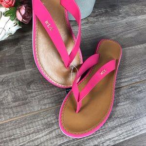 Ralph Lauren Shoes - Ralph Lauren Sandals Pink Flip Flop Thong New